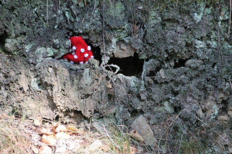 Aggi in der Höhle