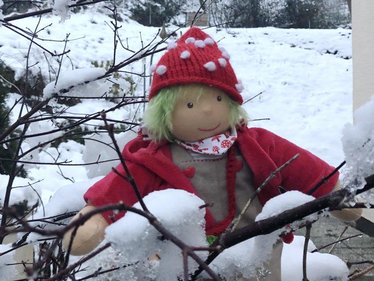 Aggi im Schnee